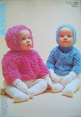 Knitting Pattern Babies//Toddlers Loopy /& Bobble Cardigans Jackets Hats DK 18-20