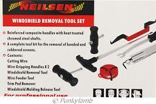 7pc Windscreen Glass Removal Set Car Van Windshield Kit Garage Hand Tool New