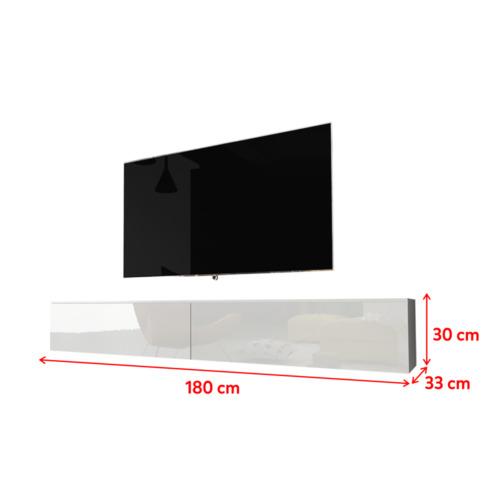 Tv Lowboard Kane Hängendstehend Weiß Schwarz Grau Beton Holz Ohnemit Led 180cm