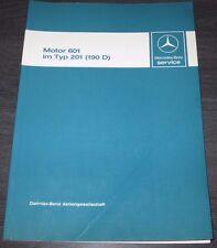 Werkstatthandbuch Mercedes 190 D Diesel W 201 Motor 601 Stand Dezember 1983