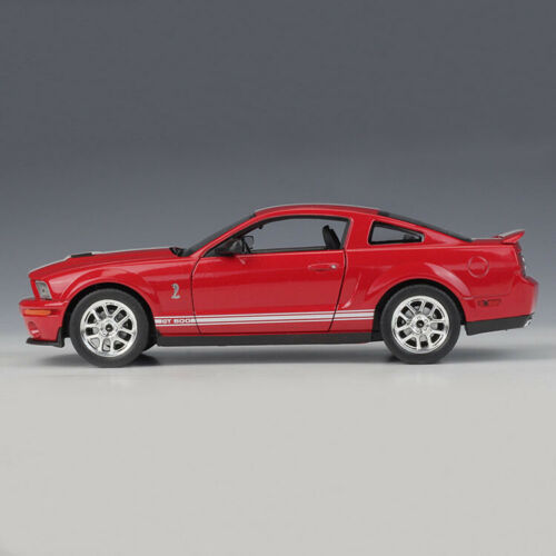 New Scale 1:24 Car Model 2007 Shelby Cobra GT500 Red Car Collection By WELLY
