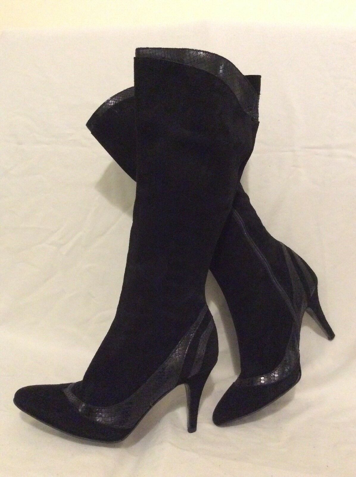 Principles Black Knee High Suede Boots Size 39