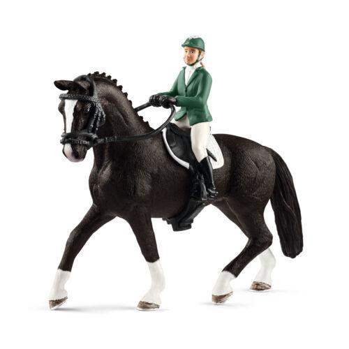 """42358 /"""" showjumper/"""" #schleich /""""Spring cavalière avec cheval/"""" NEUF dans neuf dans sa boîte-Comme neuf dans boîte!!!"""