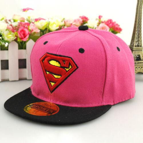 Kinder Jungen Mädchen Superheld Superman Basecap Kappe Hut Hip Hop Baseball Cap