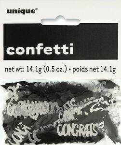 GRADUATION-PARTY-SUPPLIES-CONFETTI-WITH-MORTARBOARDS-amp-CONGRATS-0-5oz-14g