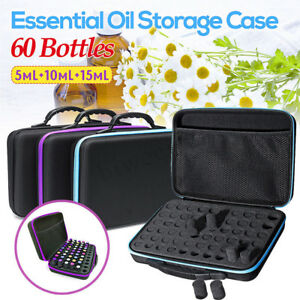 60-Bottles-Essential-Oil-Carry-Case-5-15ml-Holder-Storage-Aromatherapy-Hand-BaBF