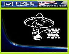 ANTI TRUMP DONALD MEXICAN PISS PEE ON WALL DECAL STICKER Calvin Drumpf Boarder