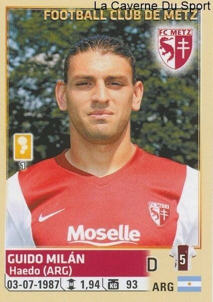 250 GUIDO MILAN # ARGENTINA FC.METZ STICKER PANINI FOOT 2015