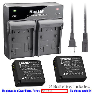 Kastar Batteria Dual USB Charger per Leica BP-DC15 Leica D-Lux fotocamera 109 Type
