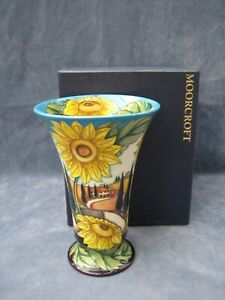 Moorcroft-Pottery-Vase-White-Road-to-Tuscany-FIRST-QUALITY-Mint-Boxed-Ltd-Ed