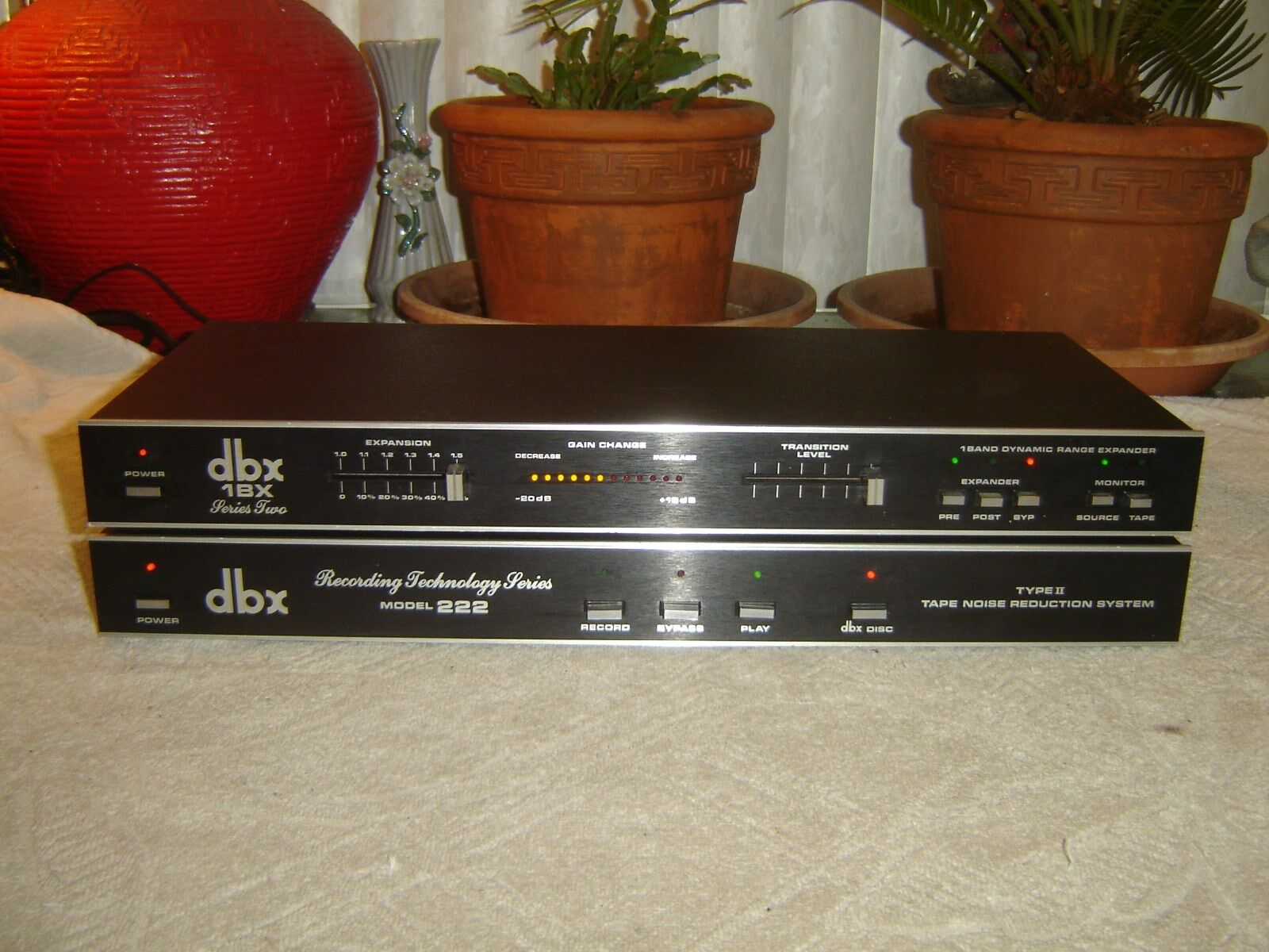 Par Dbx 1bx Serie 2 & 222, 222, 222, rango dinámico Expansor, rojoucción de ruido, Vintage  calidad fantástica