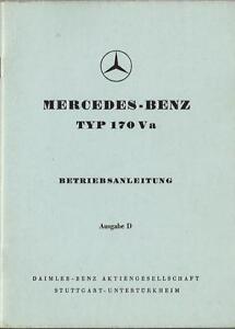 MERCEDES-Typ-170-V-a-Betriebsanleitung-1951-Bedienungsanleitung-Handbuch-BA