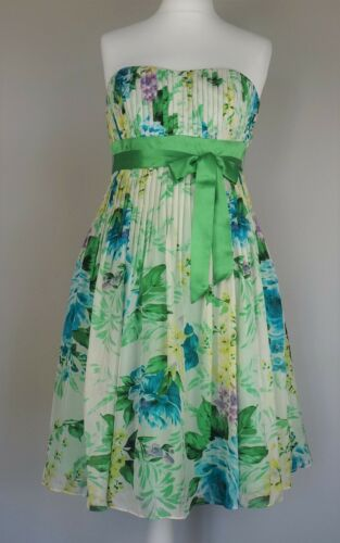 Chiffon Sz Silk Tatiana 12 Monsoon Dress Green Petite Stunning Cocktail Occasion wFqY6T7x