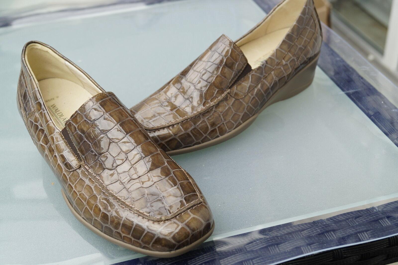 Rôdeur femmes Comfort chaussure pantoufles Mocassin Cuir dépôts Taille 4,5 H 37,5 Nouveau