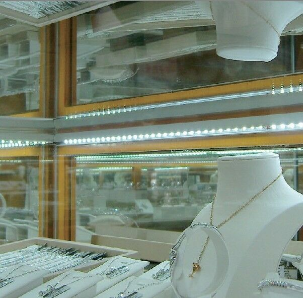 LED Replacement SHOWCASE Lighting - 32 ft KIT - Glass Jewelry Display Case - DIY