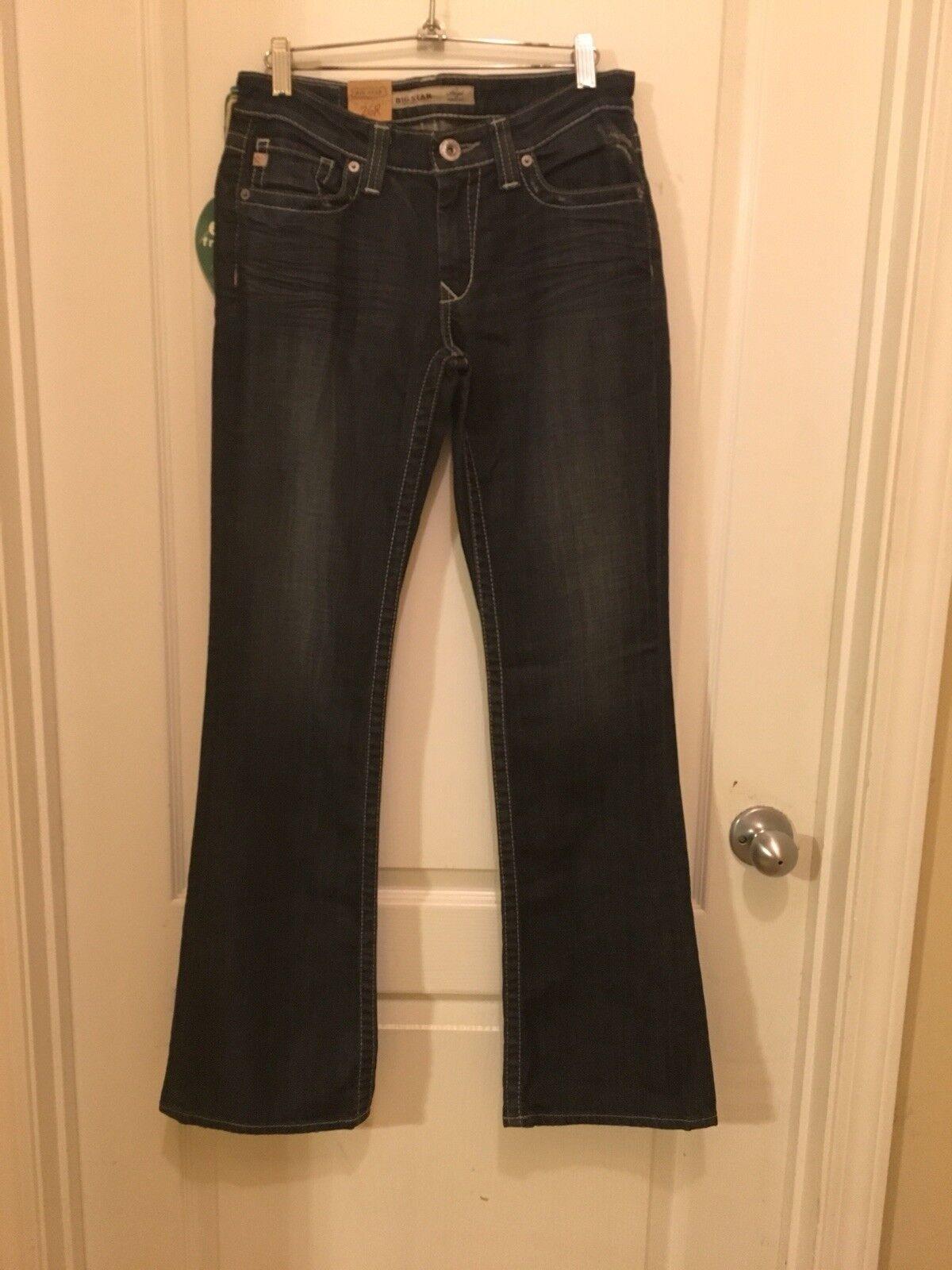 d9f67d493e NWT Big star 26R Distressed Hazel Curvy Fit Boot Cut Jeans nwujwx2325-Jeans