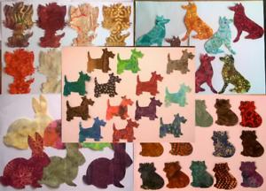 Mezcla de Tela de batik animales Pack restos Patchwork paquetes Paquete Jumbo 100/% algodón