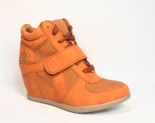Women/'s High Top Lace Up Wedge Fashion Sneaker Ankle Shoes NEW Size 5.5-10