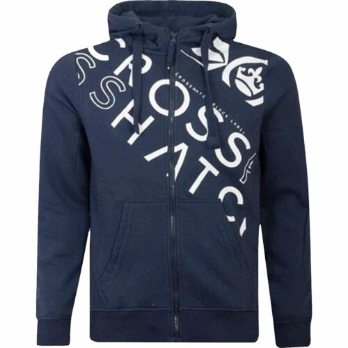 New Crosshatch Zip Up Hoodie Hooded Full Zip Thru Jacket Jumper Sweatshirt