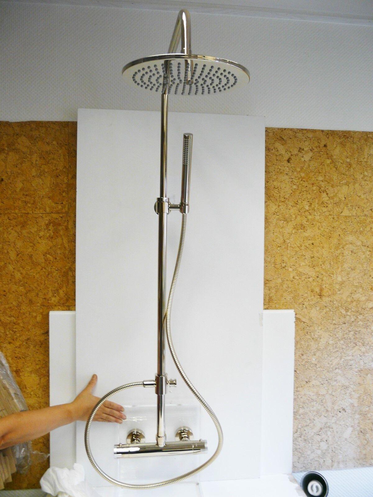Regendusche Edelmessing, Duschsystem, Duschset, Kopfbrause, Thermostat, Java | Leicht zu reinigende Oberfläche  | Zarte  | Starker Wert  | Helle Farben