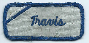 Travis name tag patch 1-1/2 X 3-1/2