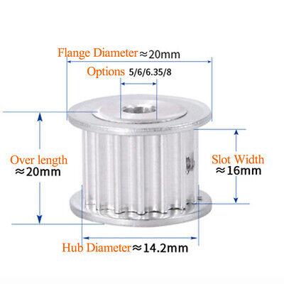 5M 18T Timing Pulley Width 15mm Belt 3D Printer 5//6//7//8//10//12//12.7//14//15mm Bore