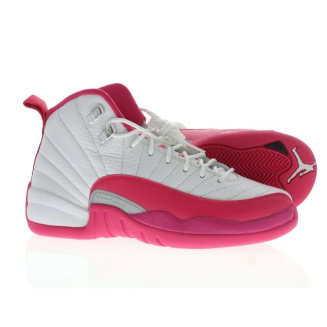size 40 cc204 4512d Nike Air Jordan Retro XII 12 510815-109 Youth 7 Womens Sz 5 Pink