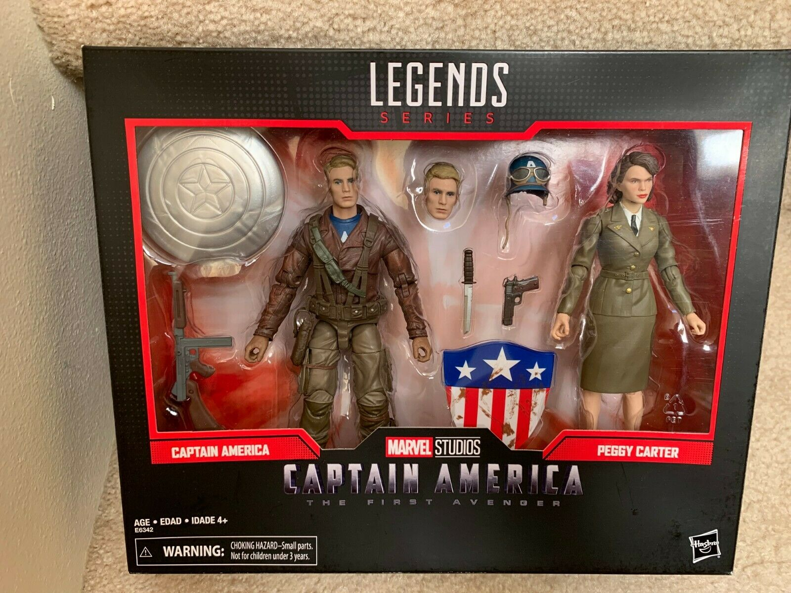 Marvel Legends 80 Years The primero Avenger Captain America & Peggy autoter