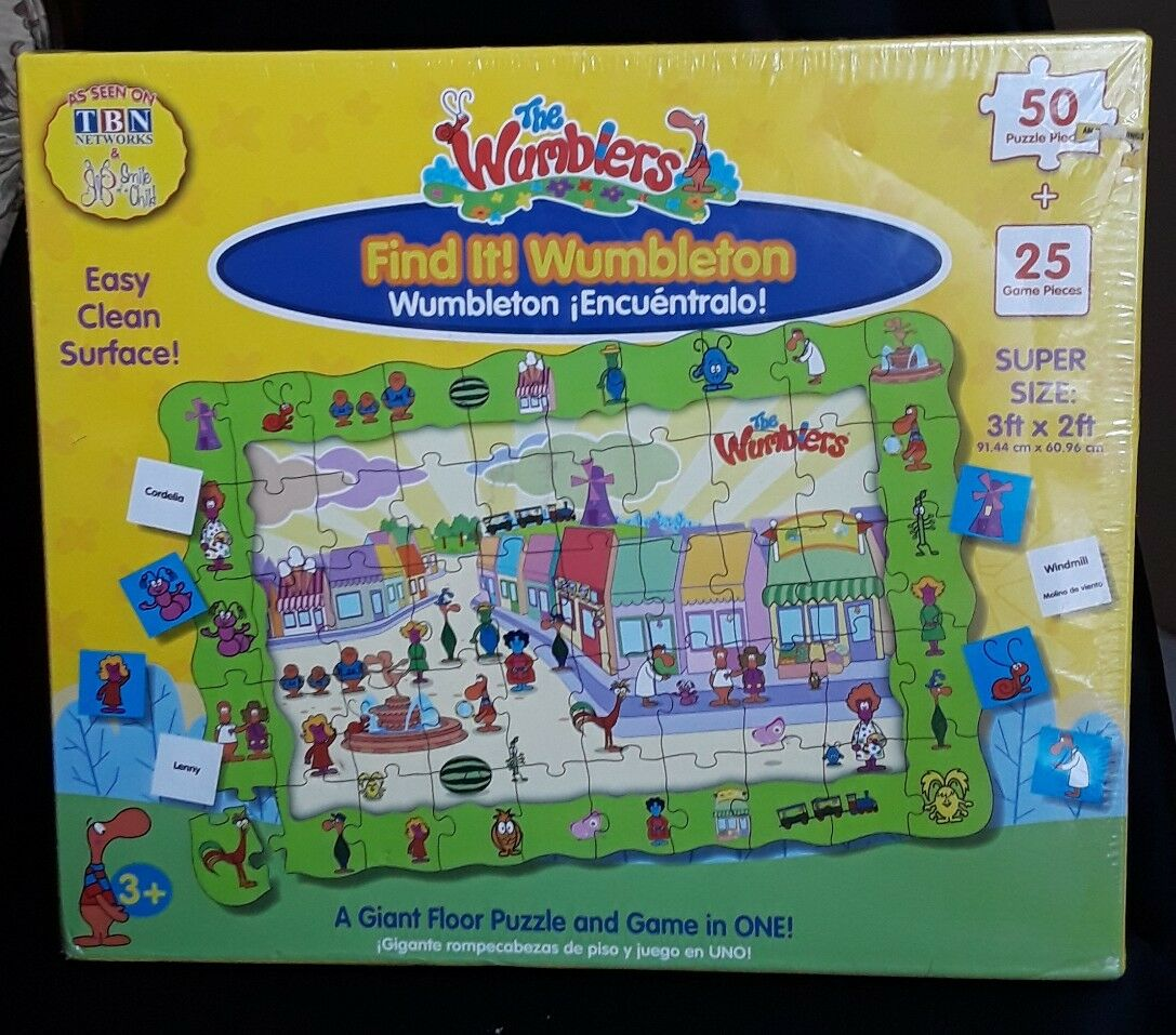 The Learning Journey The Wumblers Fine it - Wumblerton Floor pussel spel -Sealed
