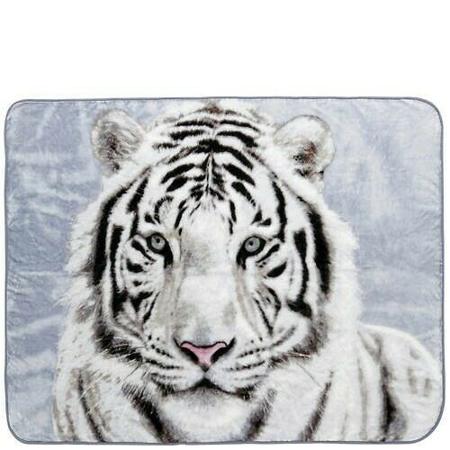 Beautiful White Bengal Tiger Portrait Fleece Throw