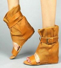 NWT 80%20 Hidden Wedge  Gladiator Boot Bootie  MOLLY LEATHER 9