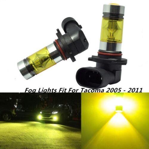 100W Fog Lights For Toyota Tacoma 2005-2011 3000K Yellow 100W LED Bulbs