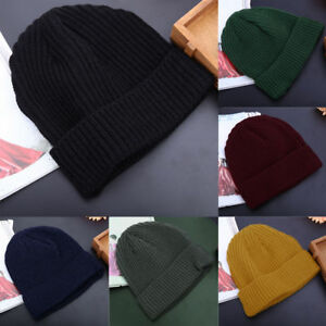 Unisex-Men-Women-Beanie-Hat-Warm-Ribbed-Winter-Turn-Ski-Fisherman-Docker-Hat-FH