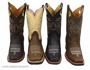 Ladies Genuine Cowhide Leather Western