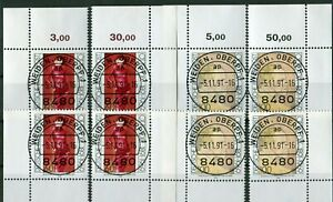 Bund-1572-1573-Eckrand-Ecke-1-4-gestempelt-EST-Vollstempel-Frankfurt-Bonn