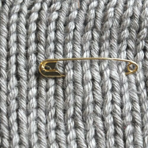 """Solidarity Safety Pins Size 3 2"""" Gold tone Bulk Pack//100 Made in USA"""