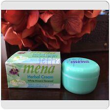 2 MENA HERBAL CREAM White Mineral Renewal w/ Kojic Acid Face Whitening Cream 3g