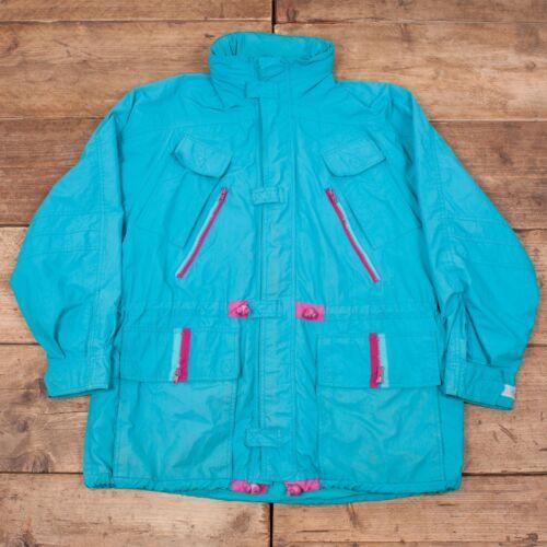 "Large Adidas Jacket Blue Vintage Hooded Mens R7125 Trekking 44"" xYAqpnwZ5"
