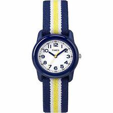 Timex TW7C05800, Kid's Blue Nylon Striped Elastic Watch, TW7C058009J
