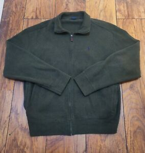 Polo-by-Ralph-Lauren-Mens-Zip-Up-Jacket-Sweater-Pony-Logo-Size-L