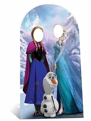 Anna and Elsa with Olaf Disney Frozen Cute Adult Size Standin Cardboard Cutout