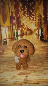 """Dutiful Ooak Handmade Teddy Poodle* Needle Felted 5"""" Long By Artist Scuznyuki Various Styles One Of A Kind Artist"""