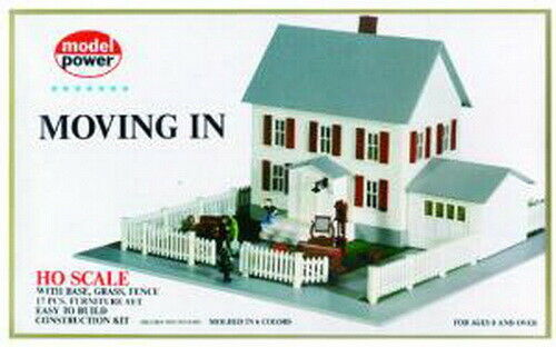 Model Power 484 HO Scale Moving-in House Building Kit
