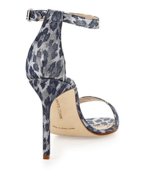 BNIB Beautiful Designer MANOLO Leopard BLAHNIK Leopard MANOLO Print Satin schuhe Größe 38   8 B 58fffe
