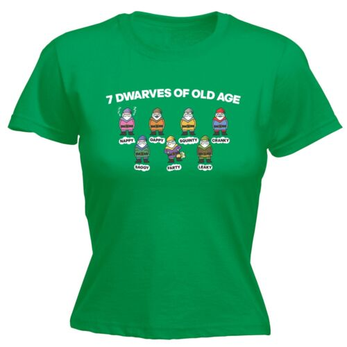 Womens 7 Dwarves Of Old Age Funny Joke Adult Humour FITTED T-SHIRT birthday