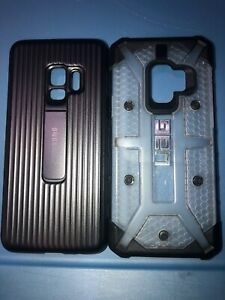 Lot-Of-2pc-Samsung-Galaxy-S9-Uag-Case-Original-Black-With-Kickstand-Case