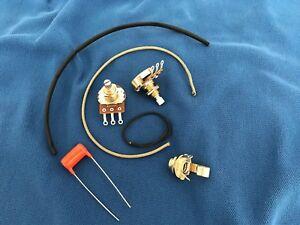 Mise-a-niveau-Cablage-Kit-pour-Les-Paul-Jr-Court-Shaft-Pots-Orange-Drop-022-Tone-Cap