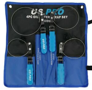 US PRO Ölfilter Bandschlüssel Satz Ölfilterschlüssel Ölwechsel Werkzeug Set