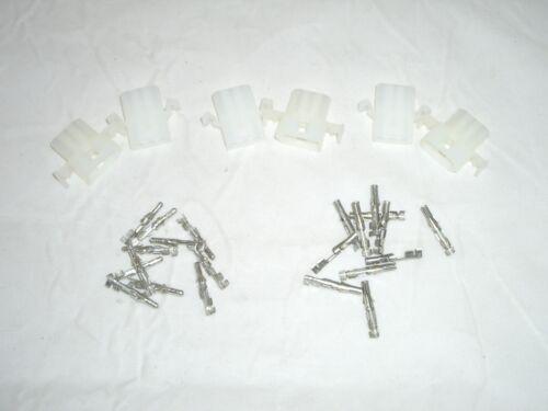 "MOLEX 76650-0058 .093/"" 3 CIRCUIT POWER PLUG SOCKET SET OF 3 W// PINS FOR HEATHKIT"
