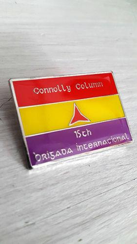 International Brigaders Connolly Column International Brigade Enamel Pin Badge
